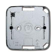 Krabice přístrojová nástěnná jednonásobná Future linear hliníková stříbrná