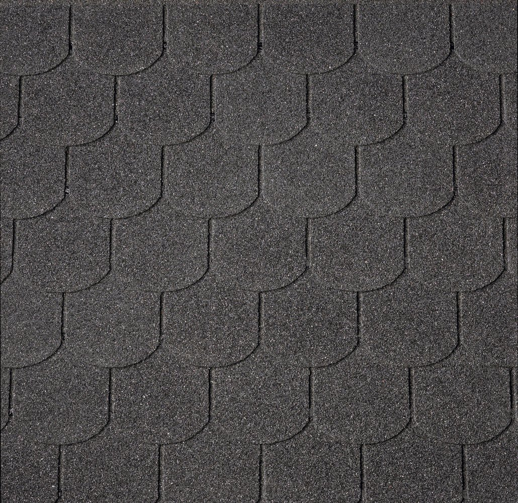 Asfaltový šindel IKO Superglass Biber 01 černá