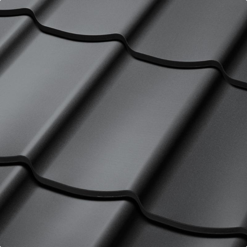 Velkoformátová profilovaná plechová střešní krytina SATJAM TREND SP25 RAL 7016 antracit
