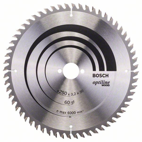 Kotouč pilový Bosch Optiline Wood 250×30×2,2 mm 60 z.