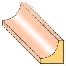 Lišta stropní S3 smrk nastavený 17×17×2000 mm, 25 ks/bal