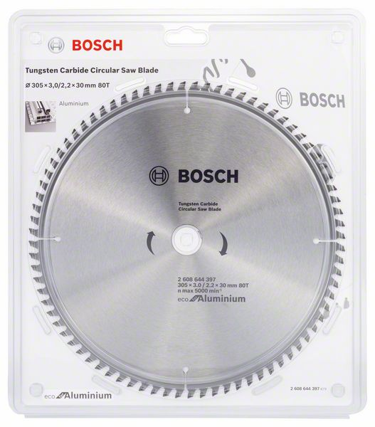 Kotouč pilový Bosch Eco for Aluminium 305×30×2,2 mm 80 z.