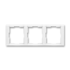 Rámeček trojnásobný vodorovný Time bílá