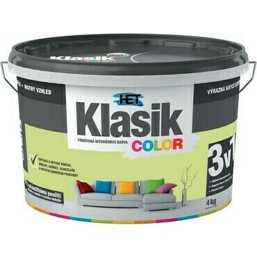 Malba interiérová HET Klasik Color zelený pistáciový, 4 kg