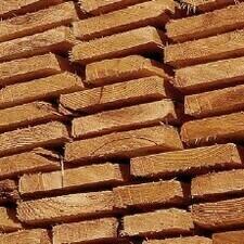 Dřevěná impregnovaná netříděná prkna 24/22xmin.80 délka 5m