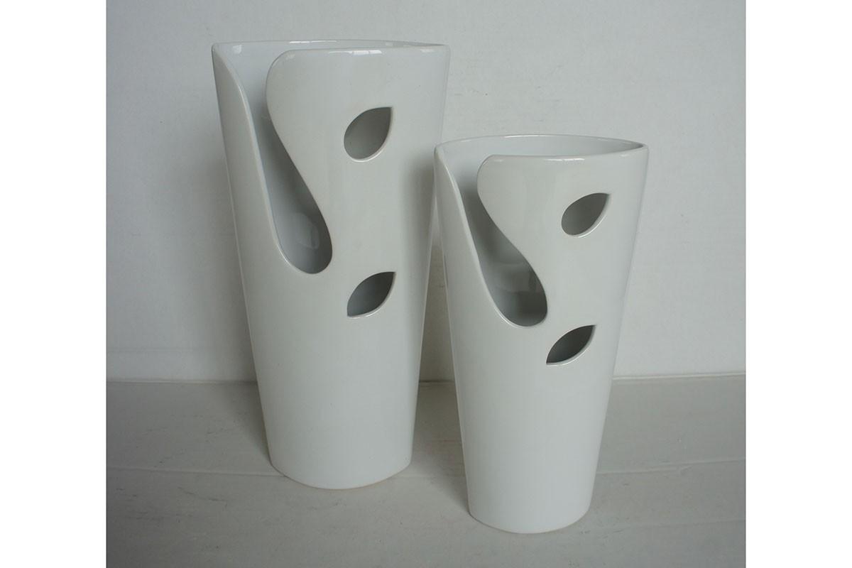 Keramická váza - bílá HL751425