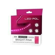 Pásek LED Led-Pol 12 V 14,6 W/m růžová
