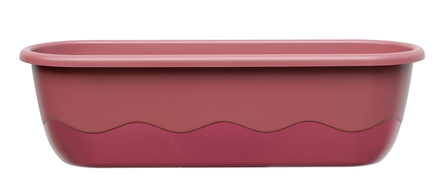 Samozavlažovací truhlík MARETA 60, růžová tmavá + vínová