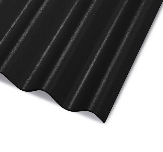CEMBRIT Vláknocementová vlnitá střešní krytina A5 1250x918 mm Černá