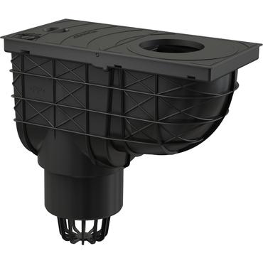 Lapač střešních splavenin DEK spodní DN 100 - černá