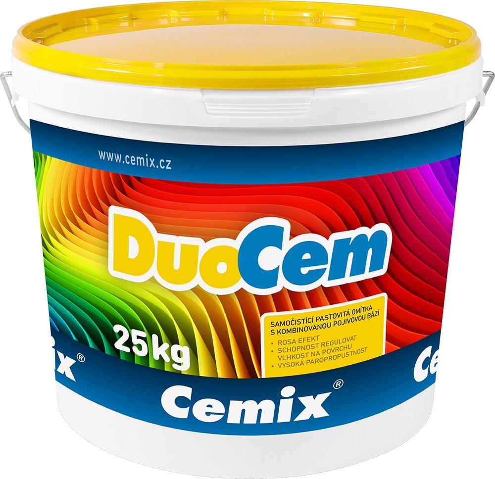 Pastovitá omítka CEMIX DUOCEM rýhovaná 1,5 mm, bezpříplatkové odstíny, 25 kg