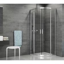 Kout sprchový čtvrtkruhový SanSwiss TOPR 800 mm, Aluchrom, čiré