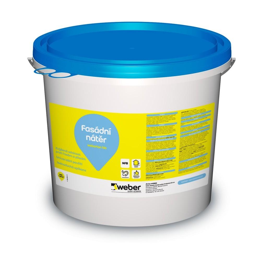Barva fasádní weberton bio bílá 5 kg