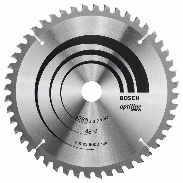 Kotouč pilový Bosch Optiline Wood 260×30×2,2 mm 48 z.