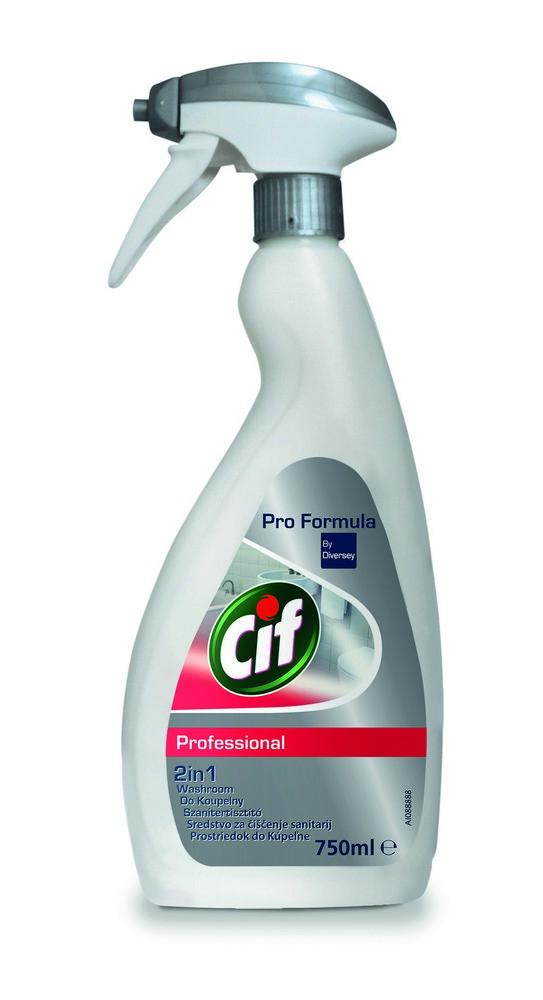 Čistící prostředek na koupelny CIF Professional 2in1 750 ml, cena za ks