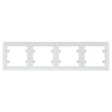 Rámeček svislý čtyřnásobný, Hager lumina SOUL, bílá