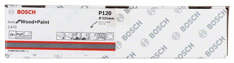Papír brusný Bosch C470 Best for Wood and Paint 225 mm 120 25 ks