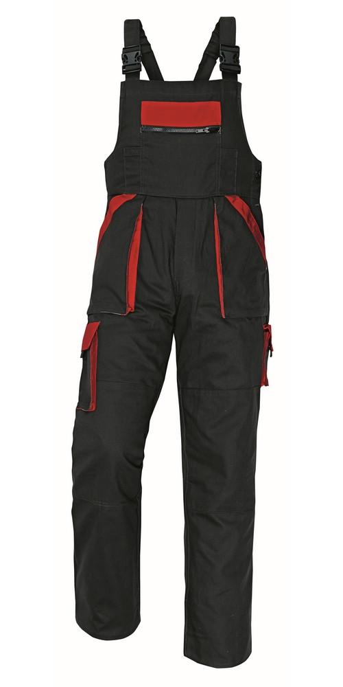 Kalhoty MAX s laclem, černá/červená, vel. 56