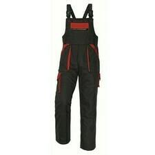 Kalhoty s laclem Cerva MAX černá/červená 48