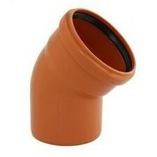KGB koleno pro kanalizační potrubí DN 125, úhel 45° , barva oranžová