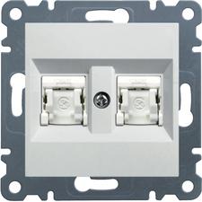 Zásuvka datová CAT6 UTP 2×RJ45 Hager lumina, bílá