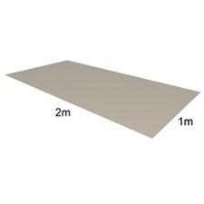 Tabule VIPLANYL z poplastovaného plechu 2x1 m, 60/712 (šedý – RAL 7040 )