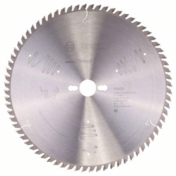 Kotouč pilový Bosch Expert for Wood 300×30×2,2 mm 72 z.