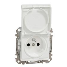 Zásuvka IP 44 Schneider Sedna Design jednonásobná bílá