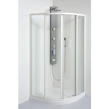 Kout sprchový čtvrtkruhový Teiko SKKH 800 mm pearl