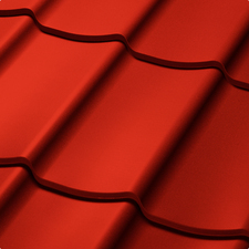 Velkoformátová profilovaná plechová střešní krytina SATJAM TREND SP25 RAL 3016 korálově červená