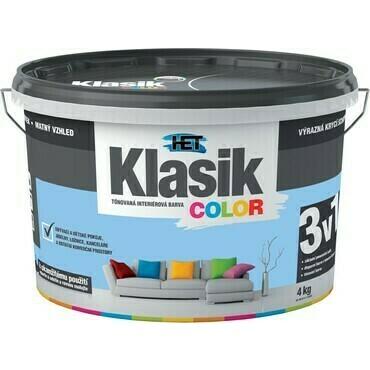 Malba interiérová HET Klasik Color modrý blankytný, 4 kg