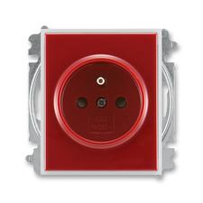 Zásuvka jednonásobná bezšroubová s ochranným kolíkem, s clonkami Time/Element