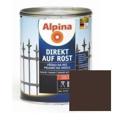 Lak na kov Alpina Direkt A Rost 2,5 l lesk čokoládová RAL8017