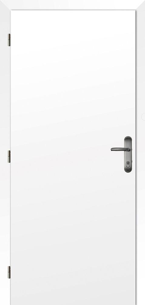 Dveře požárně odolné, šíře 80 cm, pravé, fólie bílá, rozteč 90 mm
