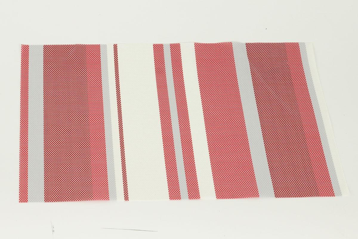 Prostírání plastové - červené s proužky, cena za ks