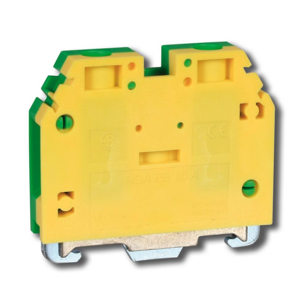 Svorka řadová RSA PE 10 A zelenožlutá, cena za ks