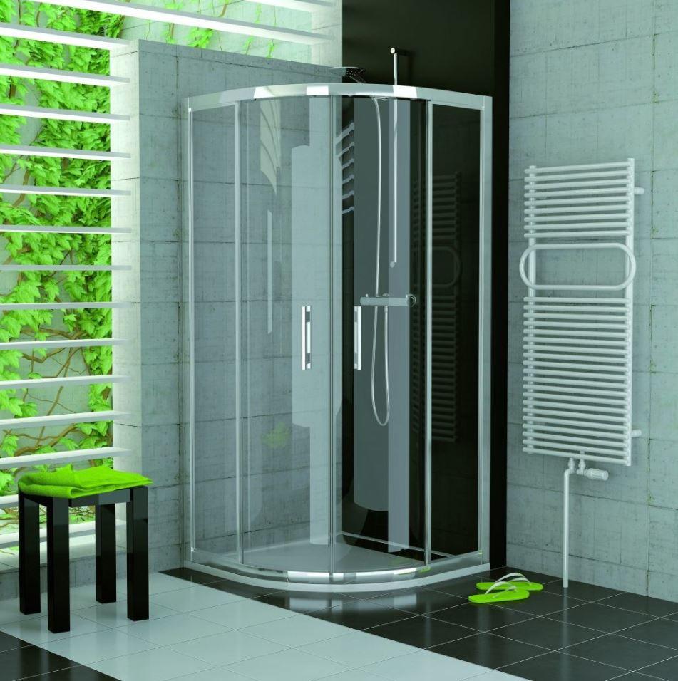Sprchový kout Ronal čtvrtkruh 900x900
