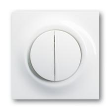 Kryt spínače s děleným tlačítkovým ovladačem Impuls alpská bílá