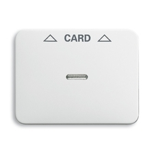 Kryt spínače kartového Alpha, čirý průzor, potisk, alabastr