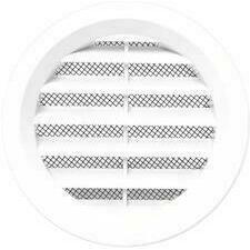 Mřížka větrací kruhová se síťovinou VM průměr 75 mm, bílá