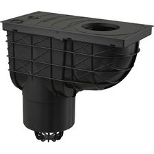Lapač střešních splavenin DEK spodní DN 125 - černá