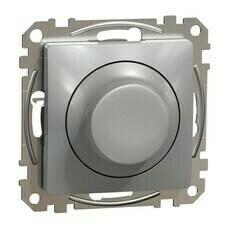 Stmívač otočný LED univerzální Schneider Sedna Design aluminium