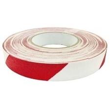 Páska protiskluzová 25 mm/18,3 m červeno-bílá