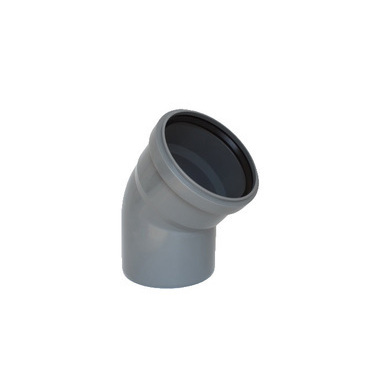 Koleno s hrdlem HTB pro odpadní potrubí, DN 100, úhel 45°