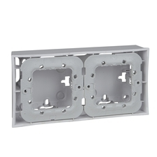 Krabice nástěnná Schneider Unica, polar, dvojnásobná