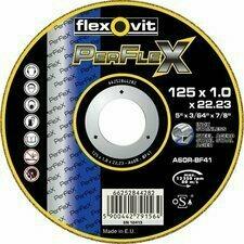 Řezný kotouč na ocel / nerez Flexovit PerFlex A RS, 115×1,6 mm (25 ks/balení)