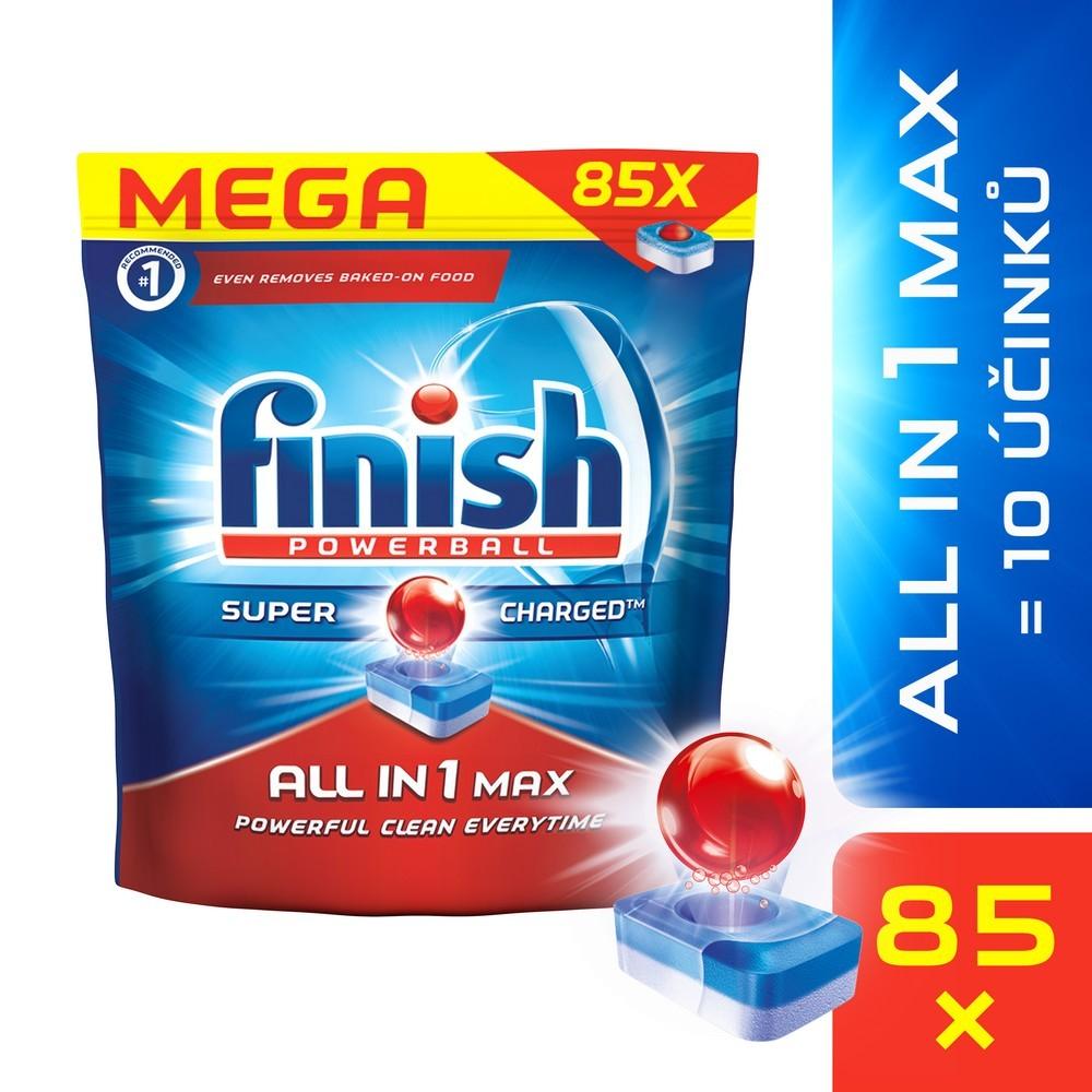 Tablety do myčky FINISH All-in-1 Max 85 ks, cena za ks