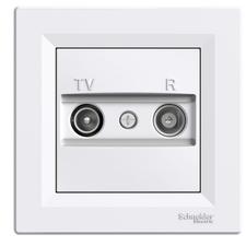 Zásuvka TV/R koncová, Asfora bílá