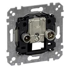 Přístroj anténní zásuvka průběžná R/TV+SAT Schneider Merten