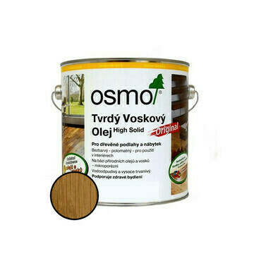 Olej tvrdý voskový Osmo Original 3065 bezbarvý 0,375 l